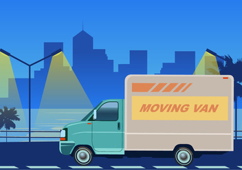 Moving Van For Transportation Cargo Vector - Free vector #433309