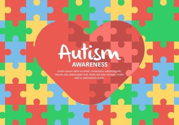 Puzzle Autism Background - vector gratuit #433489