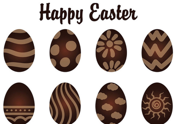 Vector Chocolate Easter Eggs - vector gratuit #433509