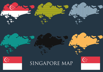 Singapore Map Vector Set - vector gratuit #433569