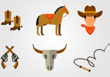 Flat Gaucho Icon - бесплатный vector #433579
