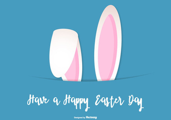 Cute Easter Bunny Ears Background - vector #433589 gratis