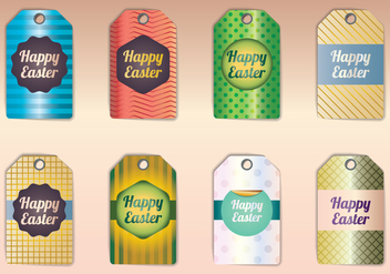 Happy Easter Gift Tags - vector gratuit #433669