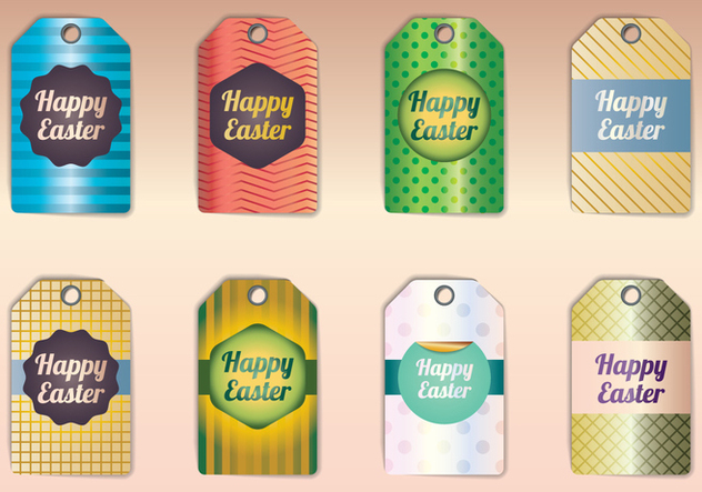 Happy Easter Gift Tags - Free vector #433669