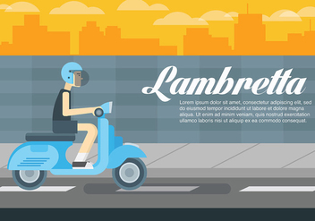 Lambretta Vector Background - vector gratuit #433689