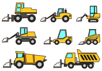 Set Of Snow Blower Icons - vector #433699 gratis