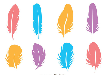 Colorful Bird Feather Vectors - Free vector #433709