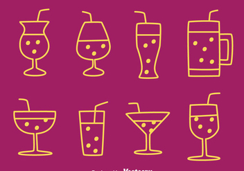 Fizz Drink Icons Vectors - бесплатный vector #433719