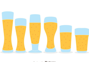 Nice Beer Glasses Vectors - vector gratuit #433739