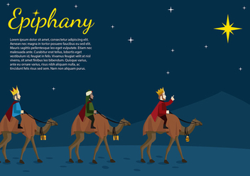 Epiphany Night Cartoon Free Vector - Kostenloses vector #433789