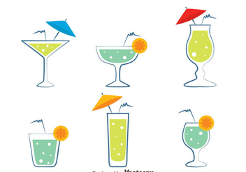 Glass Of Spritz Vectors - Free vector #433809