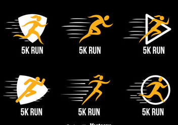 5k Run Logo Collection Vectors - Free vector #433819