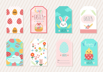 Easter Gift Tag - Free vector #433899