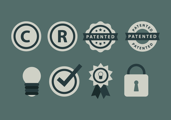 Free Copyright Symbol and Icons - бесплатный vector #433909