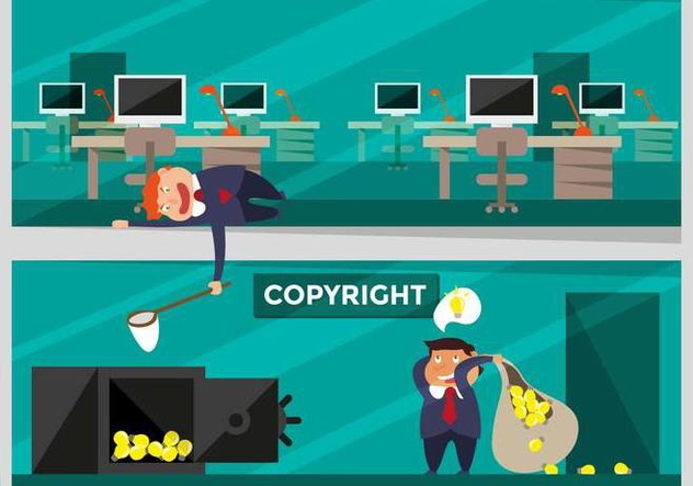 Copyright Concept Flat Illustration Vector - Free vector #433919
