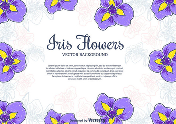 Iris Flowers Vector Background - Free vector #433929