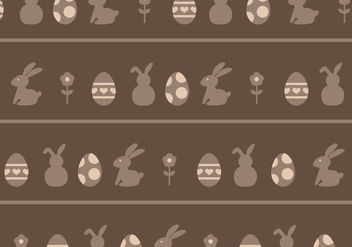 Brown Eggs & Rabbits Pattern - vector gratuit #433949