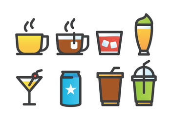Drink Icon Pack - vector #434129 gratis