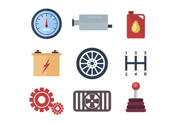 Free Car Component and Parts Vector - Free vector #434169