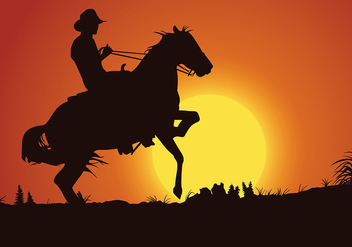 Gaucho Sunset Free Vector - бесплатный vector #434189