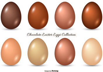 Chocolate Easter Egg Collection - vector gratuit #434199