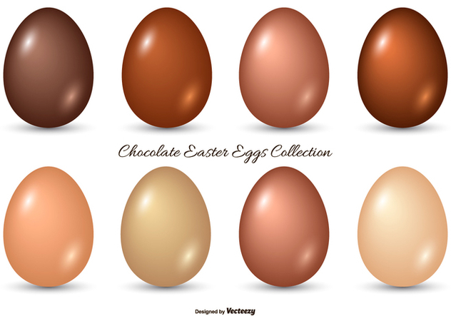 Chocolate Easter Egg Collection - Free vector #434199