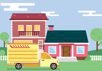 Moving to New House Vector - Kostenloses vector #434239