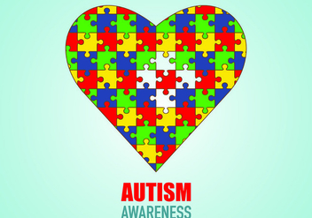 Poster Of Autism Awareness - бесплатный vector #434249