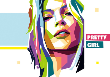 Pretty Girl vector wpap - Free vector #434259