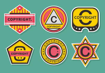 Copyright Stamps Vector Set - vector #434269 gratis