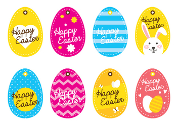 Easter Egg Tag - Free vector #434289
