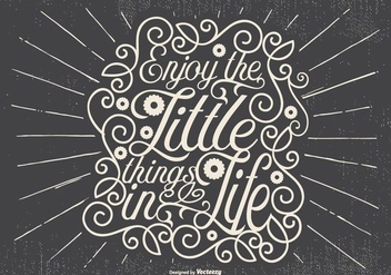 Inspirational Retro Typographic Illustration - vector #434299 gratis