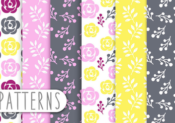 Floral Decorative Pattern Vector Set - vector gratuit #434309
