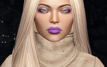 Eyeshadow Lilian & Lips Toma by Zibska @ Shiny Shabby - бесплатный image #434409