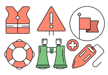 Free Lifeguard Icons in Vector Elements - Free vector #434589