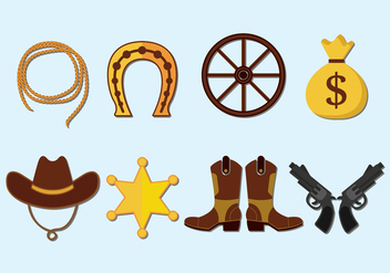 Gaucho Vector Icons Set - vector #434599 gratis