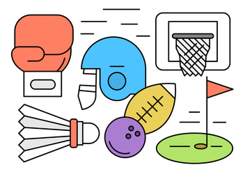 Vector Set of Different Sports Elements - бесплатный vector #434619