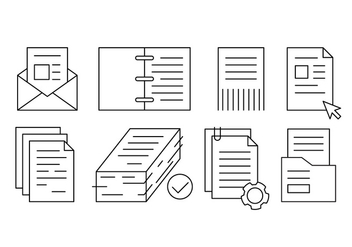 Free Linear Office Documents and Papers - vector gratuit #434629