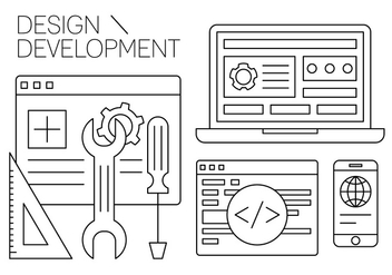 Free Design and Development Vector Elements - бесплатный vector #434639