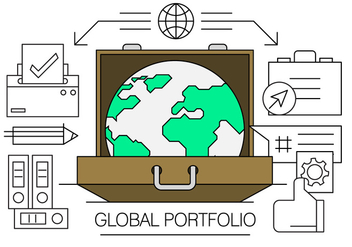 Linear Global Business Elements - vector gratuit #434659