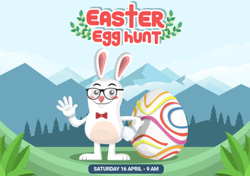 Easter Egg Hunt Vector Background - бесплатный vector #434719