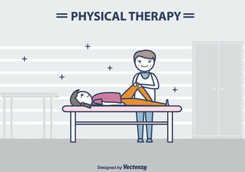 Physiotherapist Vector Illustration - бесплатный vector #434729