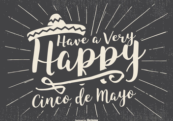 Typographic Cinco de Mayo Illustration - vector #434739 gratis