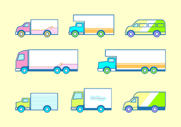 Flat Icon Moving Van Free Vector - vector gratuit #434839