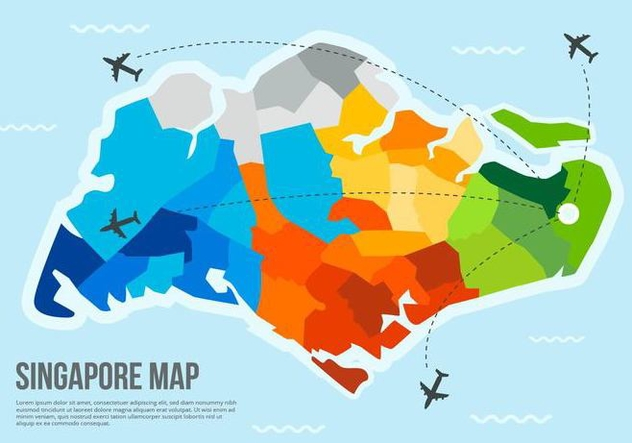 Free Singapore Map Vector - vector #434869 gratis