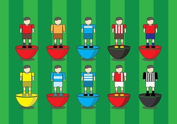Subbuteo Game Cartoon Icon - Free vector #434879