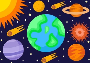 Free Space Exploration Vector - vector gratuit #434909