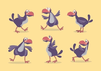 Dodo Bird Vector Set - бесплатный vector #434919