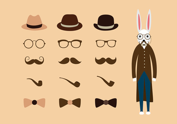 Hipster Easter Free Vector - Free vector #435009