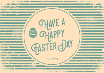 Hipster Style Easter Greeting Illustration - бесплатный vector #435059